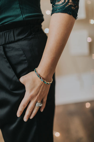 Emerald Stretch Bracelet
