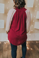 Smocked Balloon Sleeve Tunic