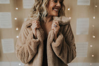 Faux Fur Topper Jacket - Large Only