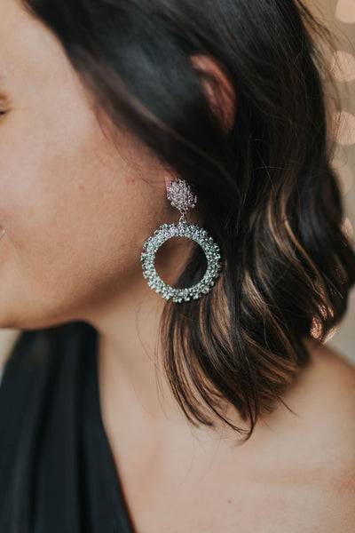 Intricate Drop Hoop Earrings