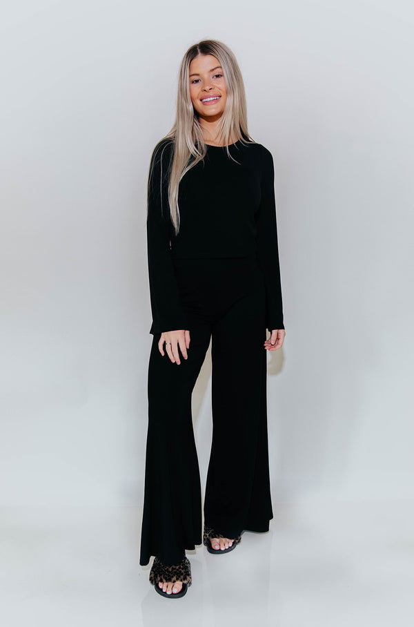 SHAWN WIDE LEG PANT IN BLACK