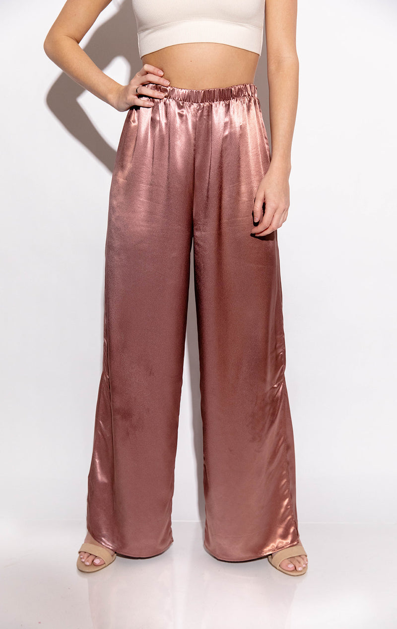 SWEETHEART MAUVE SATIN PANT