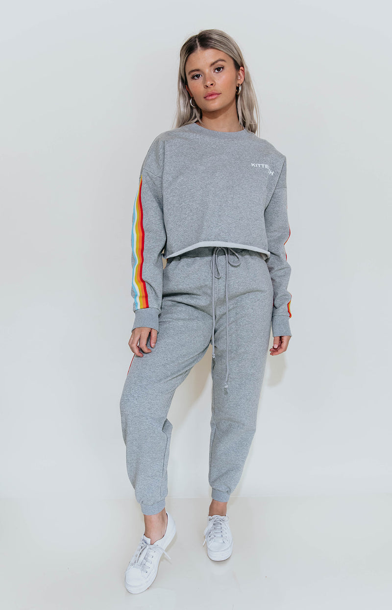 RAINBOW STRIPE JOGGERS