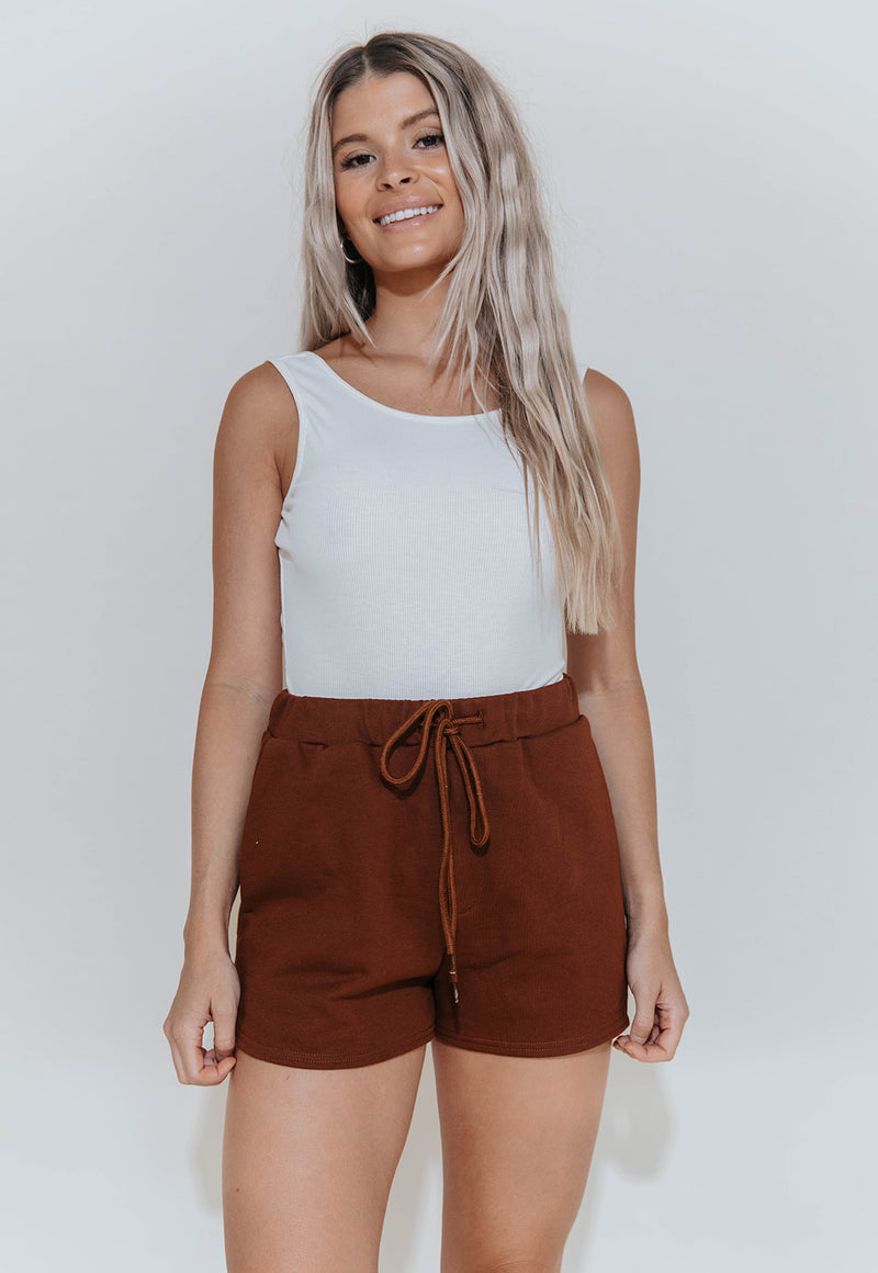 PRINCETON BROWN LOUNGE SHORTS