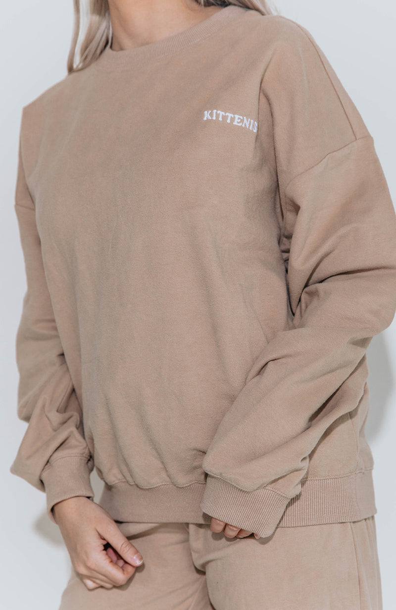 LAZY BABE TAN SWEATSHIRT