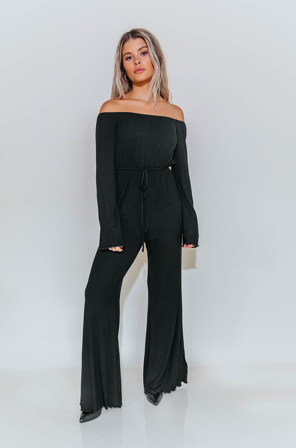 FINLEY BLACK JUMPSUIT