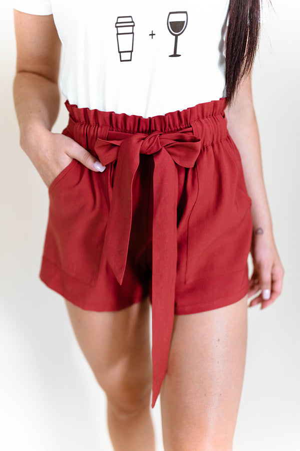 BRIDGET RUST SHORTS