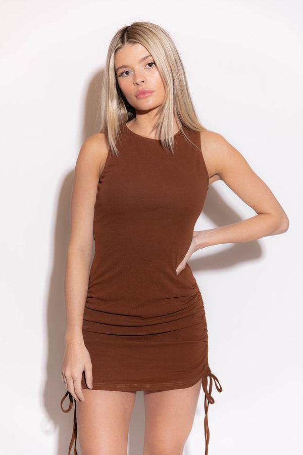 LYDIA CHOCOLATE DRESS