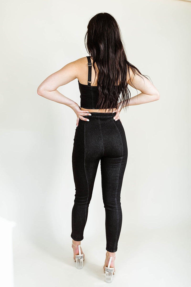 DELANEY BLACK DENIM PANTS