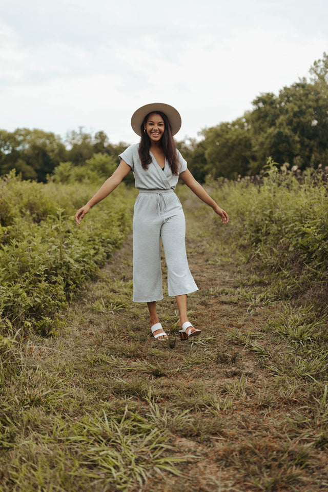 CAMDEN GREY COZY JUMPSUIT