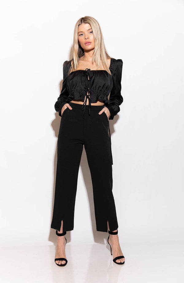 JADA BLACK TROUSER PANTS
