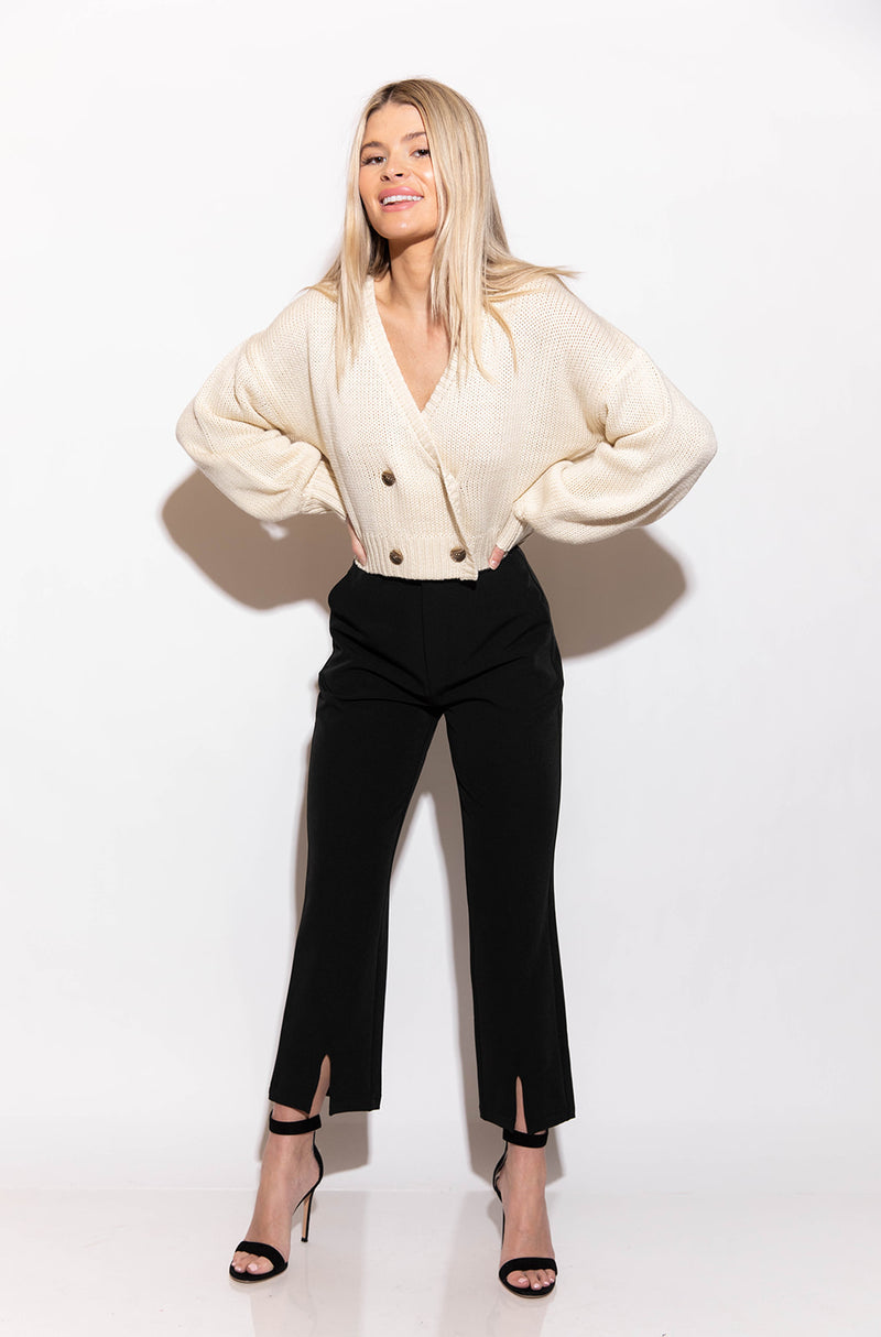 REMI CROPPED CREAM SWEATER