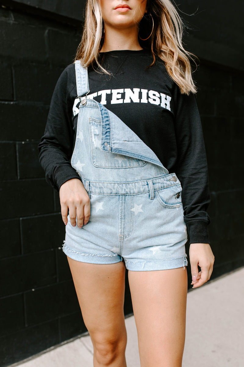 KITTENISH VARSITY BLACK LONG SLEEVE