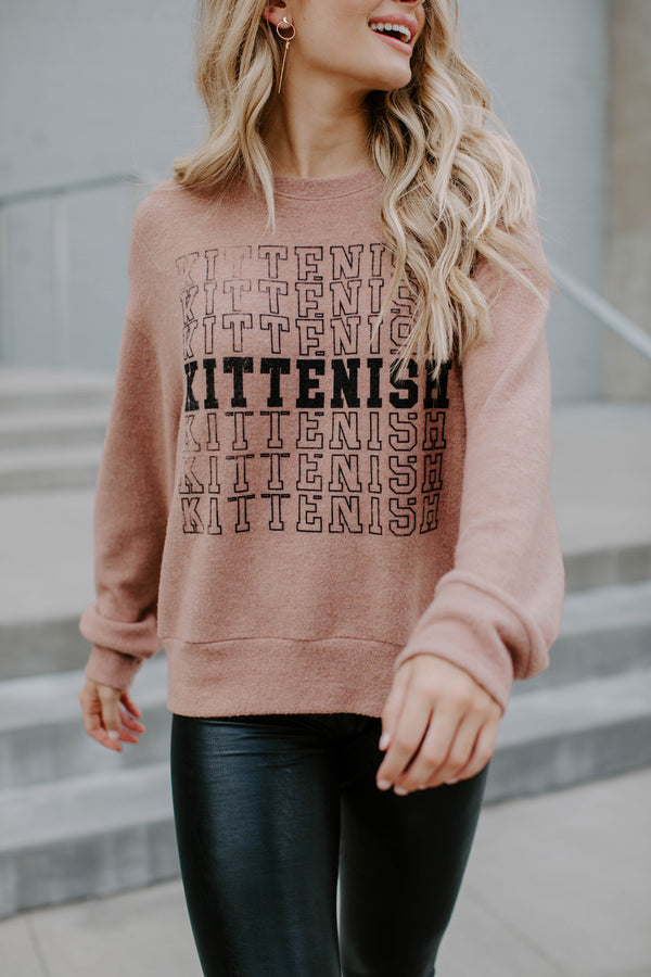KITTENISH GIRL GRAPHIC SWEATER
