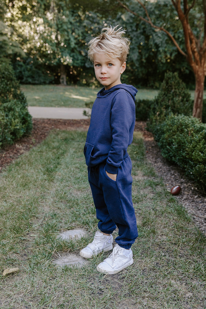 ARIE NAVY KIDS COZY SET