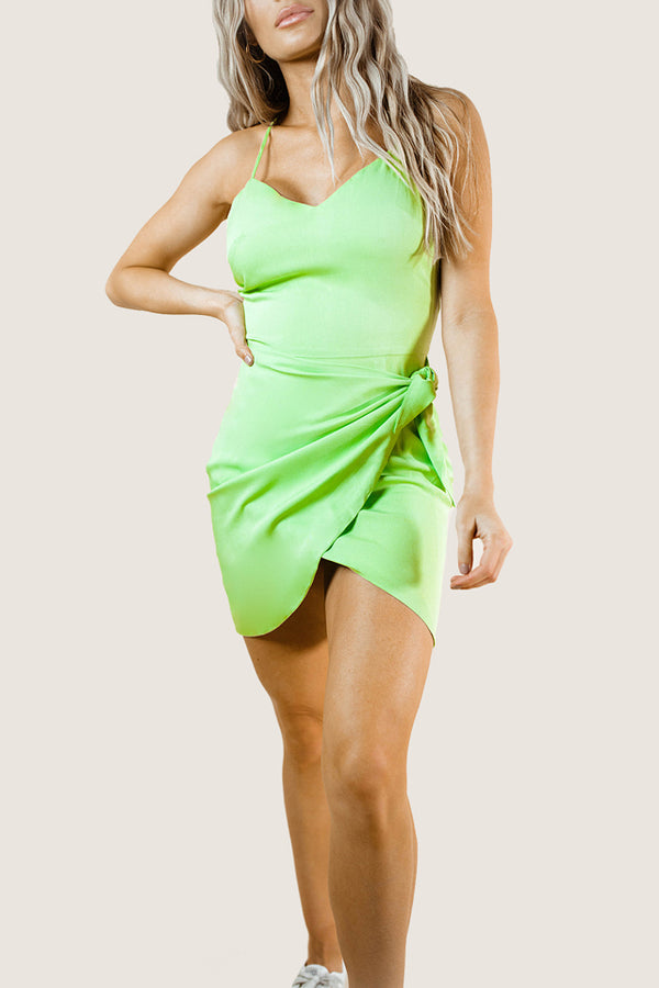 WILLA NEON GREEN DRESS