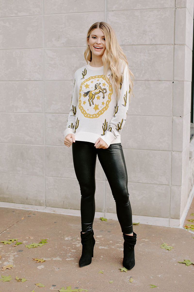 WILD WEST CREAM SWEATER