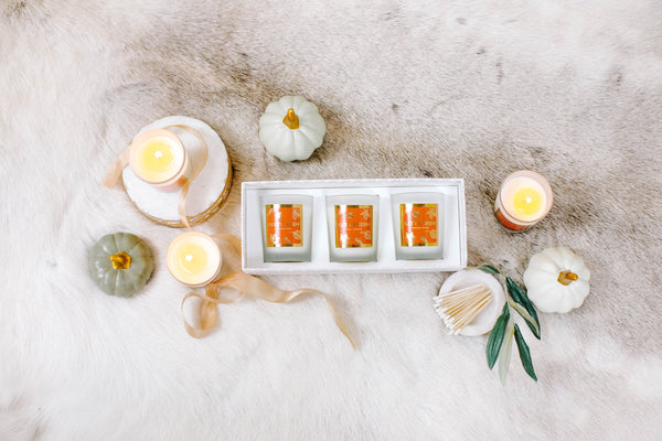 FALL CANDLE SET OF THREE