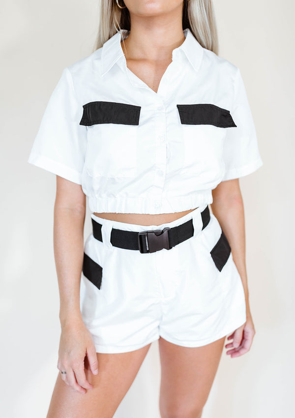 KAYLIE UTILITY CROP TOP