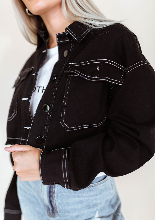 MCKENNA CROPPED DENIM JACKET