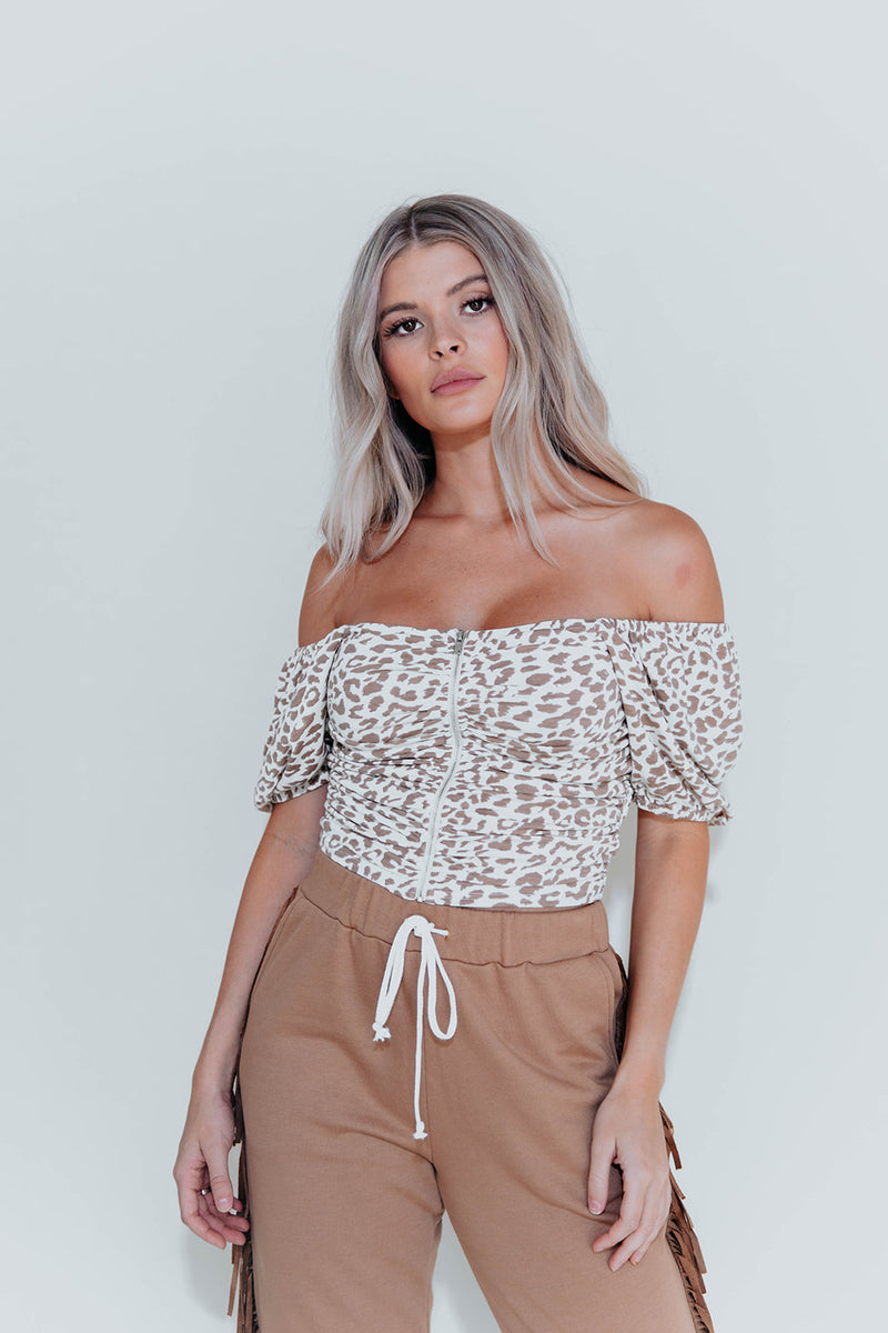 ALICIA LEOPARD TOP