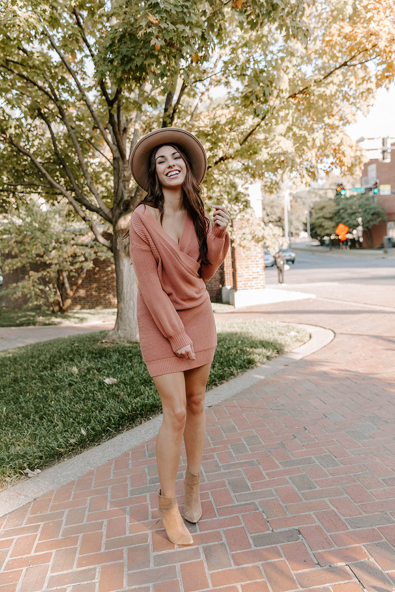BRIGHTON SPICED SWEATER DRESS