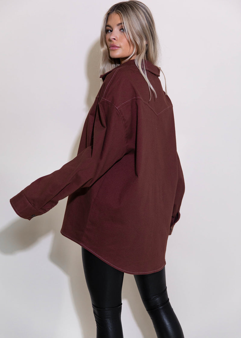 BRITTANY BURGUNDY TOP