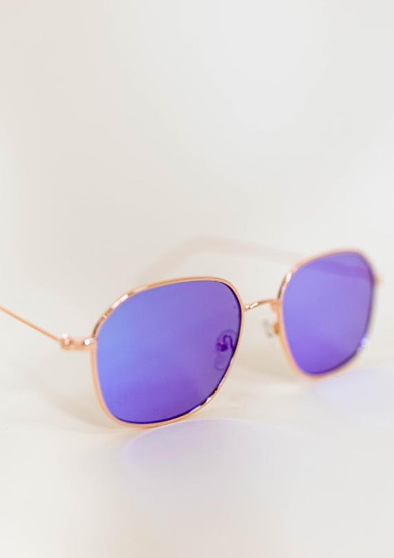 TUSCANY ROUNDED SUNGLASSES IN BLUE