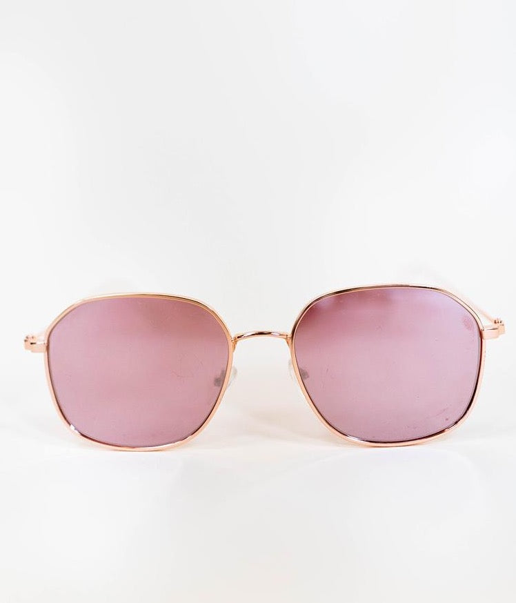 TUSCANY ROUNDED SUNGLASSES IN PINK
