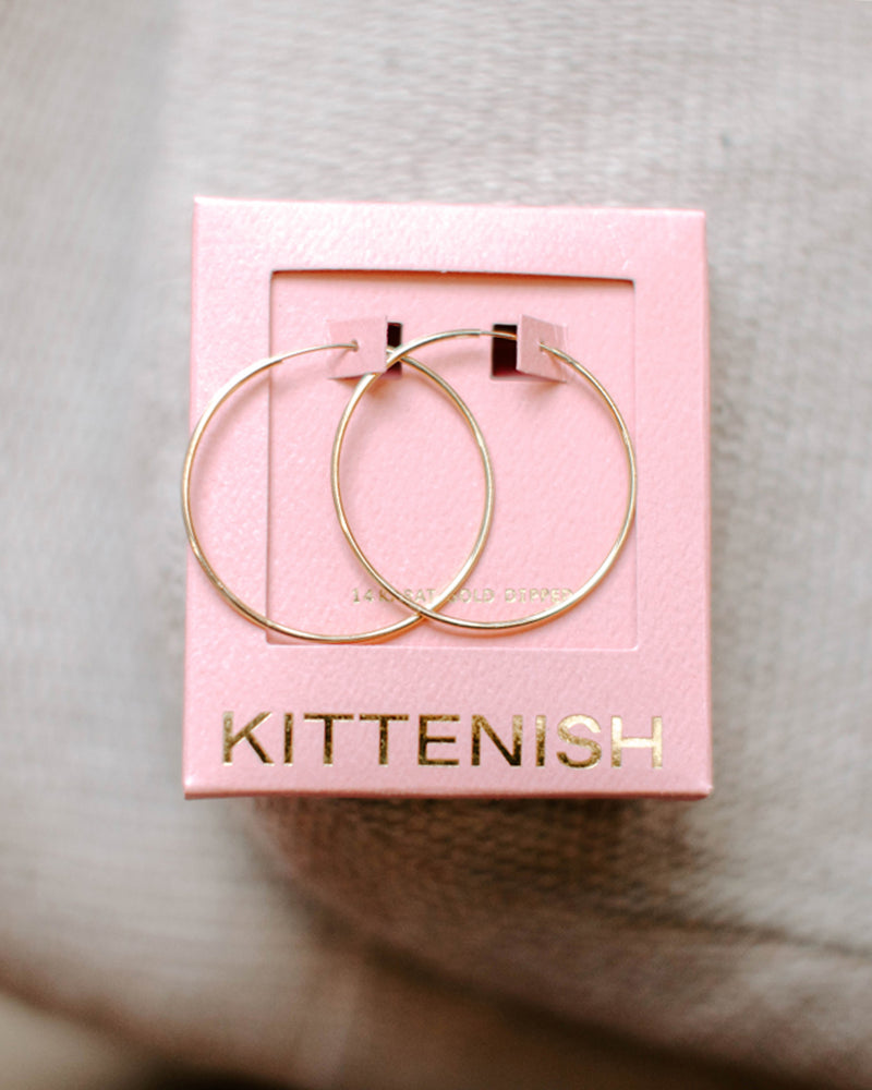 TESSA THIN HOOP EARRING