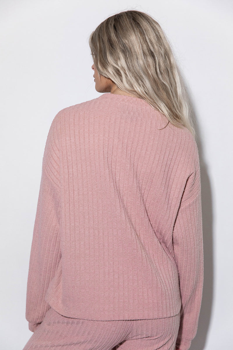 LENA BLUSH COZY TOP