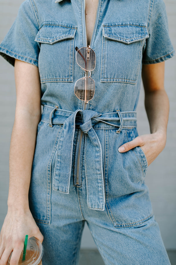 MADDIE DENIM JUMPSUIT