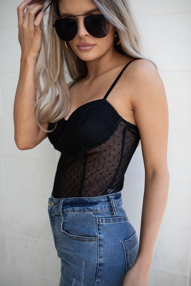 AUDREY BLACK LACE BODYSUIT
