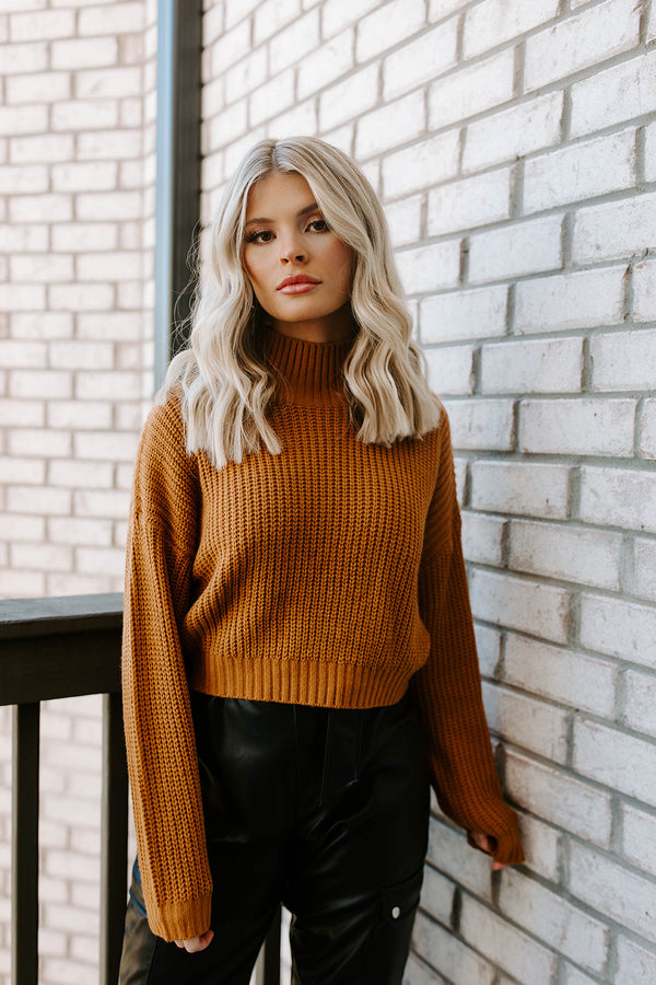 DAKOTA CARAMEL TURTLENECK