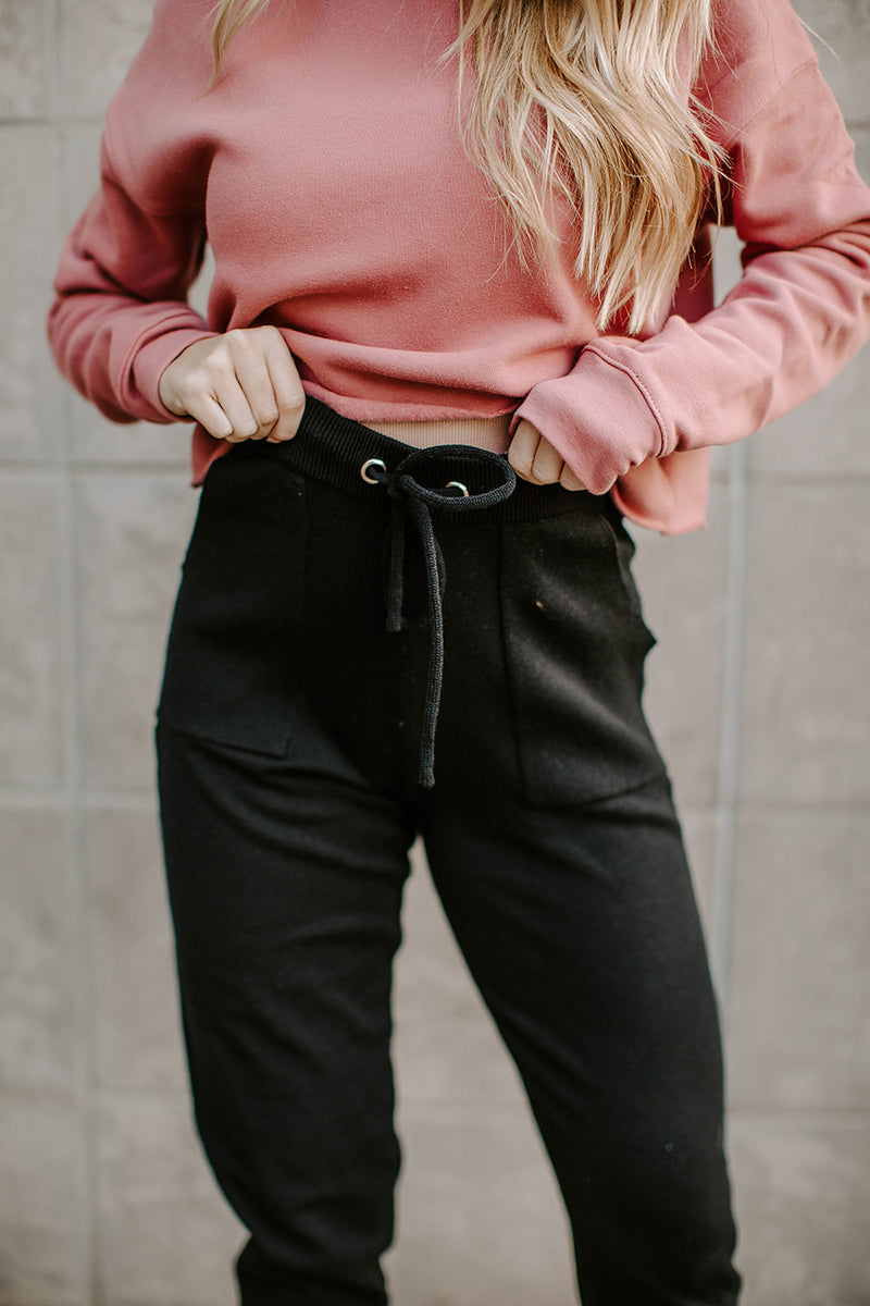TEXAS TIES BLACK SWEATER JOGGERS