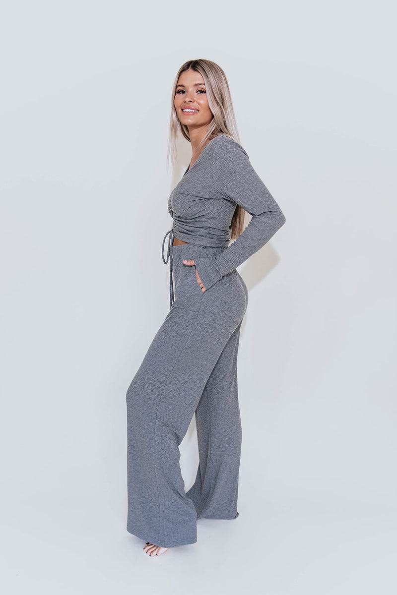 DENVER GREY COZY TOP