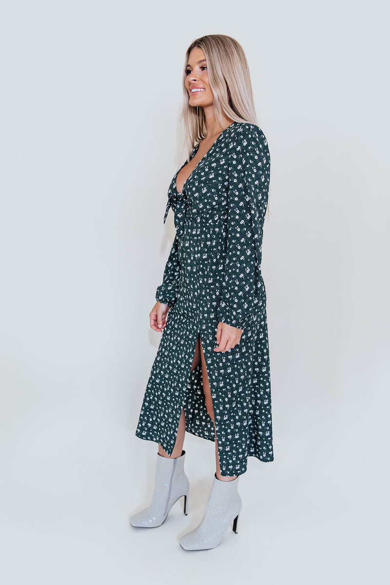 BELLA FLORAL MIDI DRESS