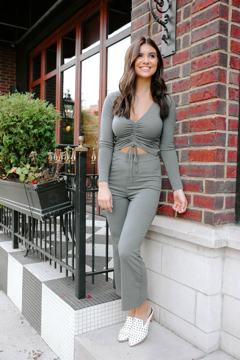 KANSAS CHARCOAL JUMPSUIT
