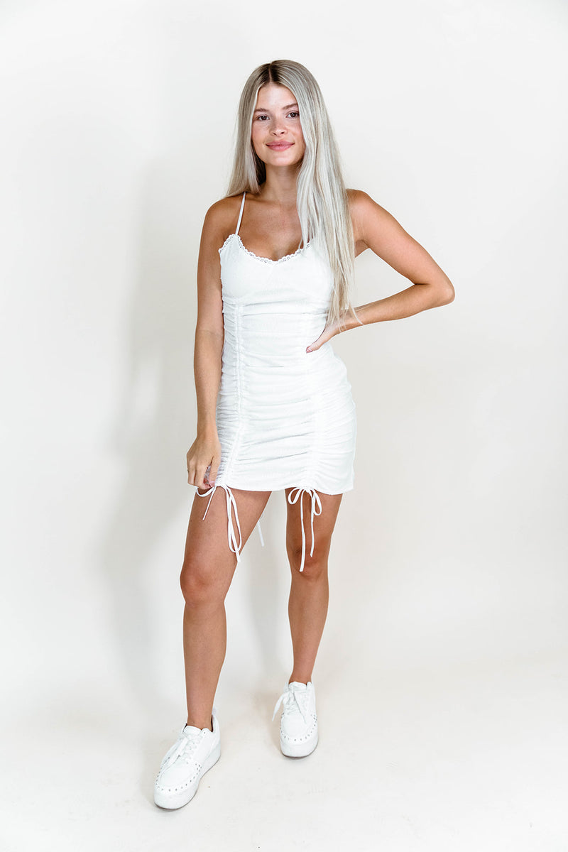ALEXA WHITE MINI DRESS