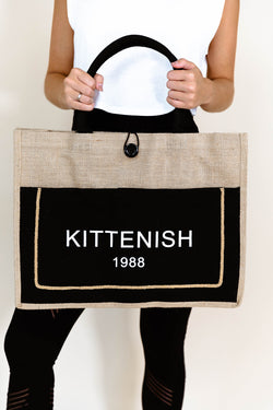 LARGE KITTENISH 1988 TOTE IN BLACK