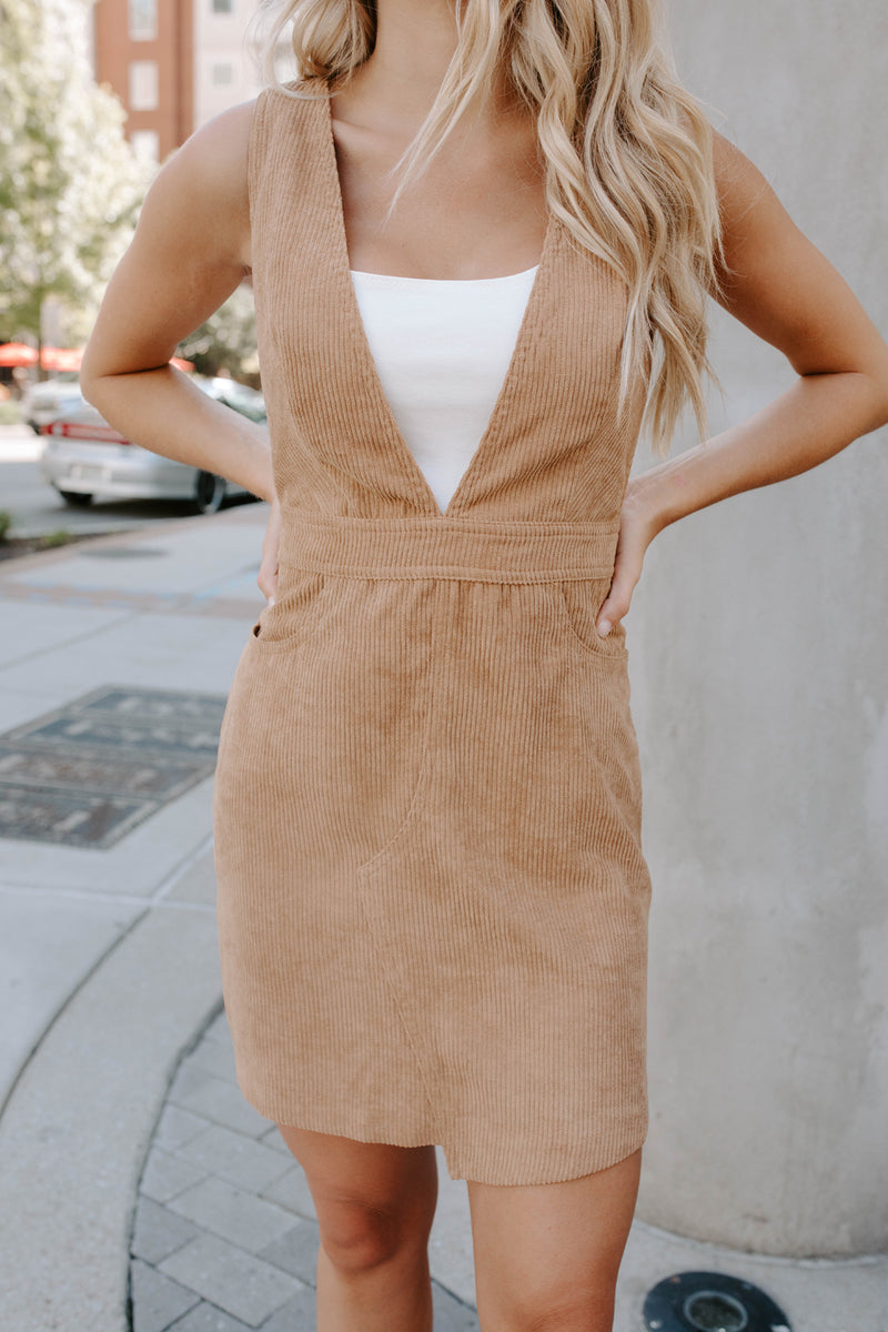 JENNY LYNN CORDUROY OVERALL DRESS
