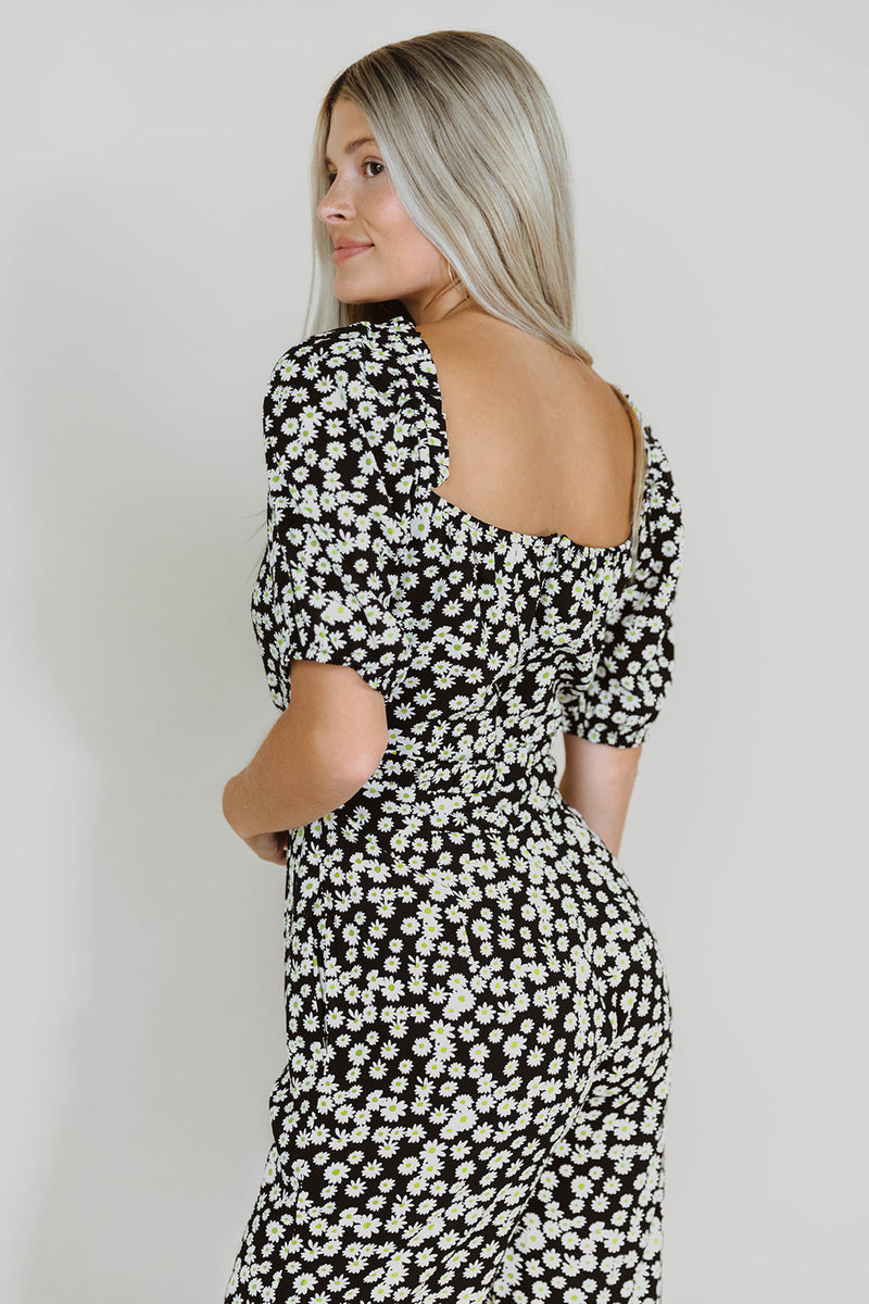 KELSIE MIDNIGHT  FLORAL CUTOUT JUMPSUIT