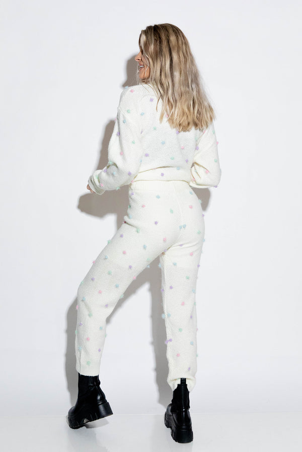 ANGELA IVORY SWEATER PANTS