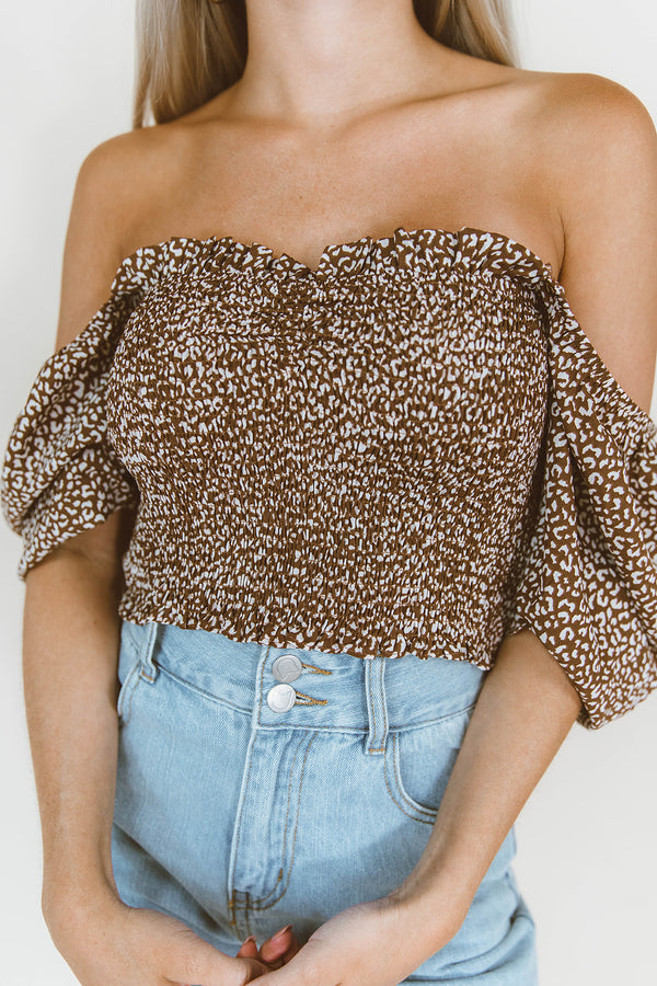 NORA LEOPARD TOP