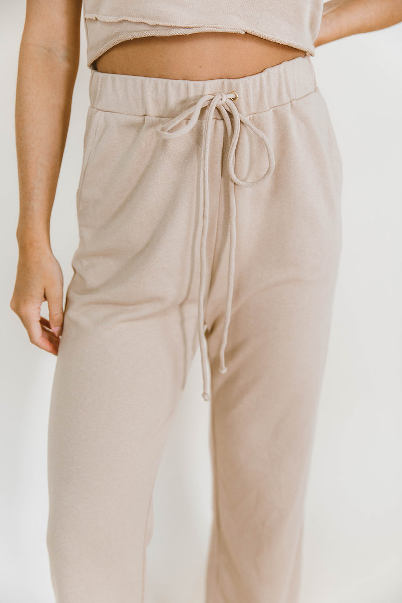 AUBREY TAN COZY JUMPSUIT