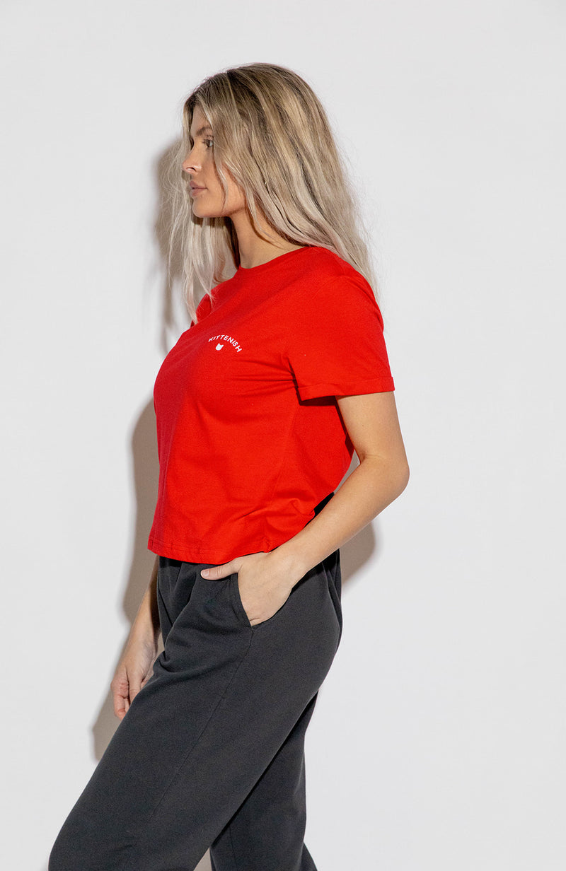 KITTENISH LOGO TEE IN RED