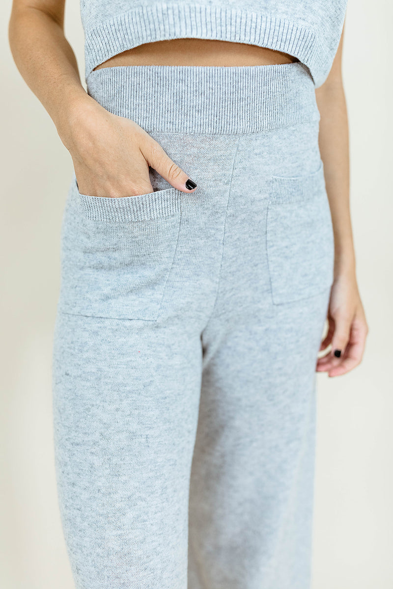 ANISTON LIGHT GRAY PANTS