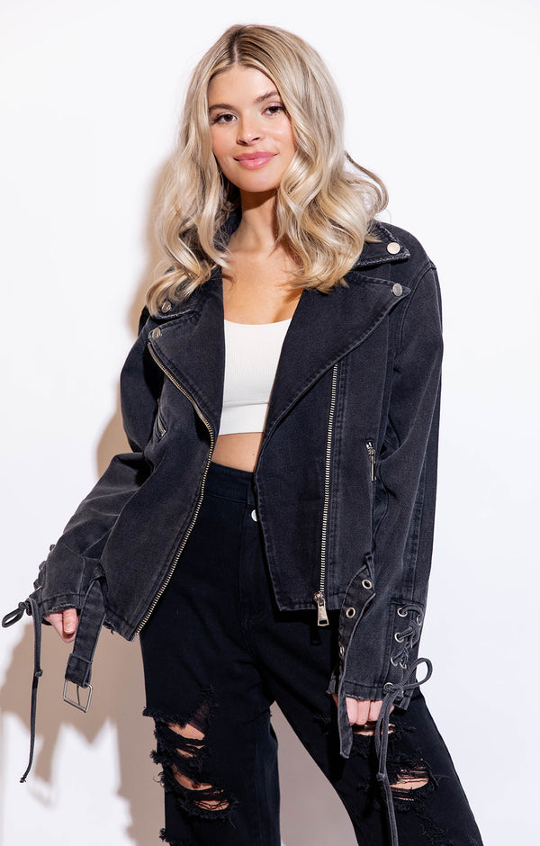 TRENDSETTER BLACK DENIM JACKET