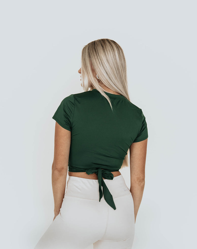 KIMBERLY DEEP GREEN CROPPED TOP