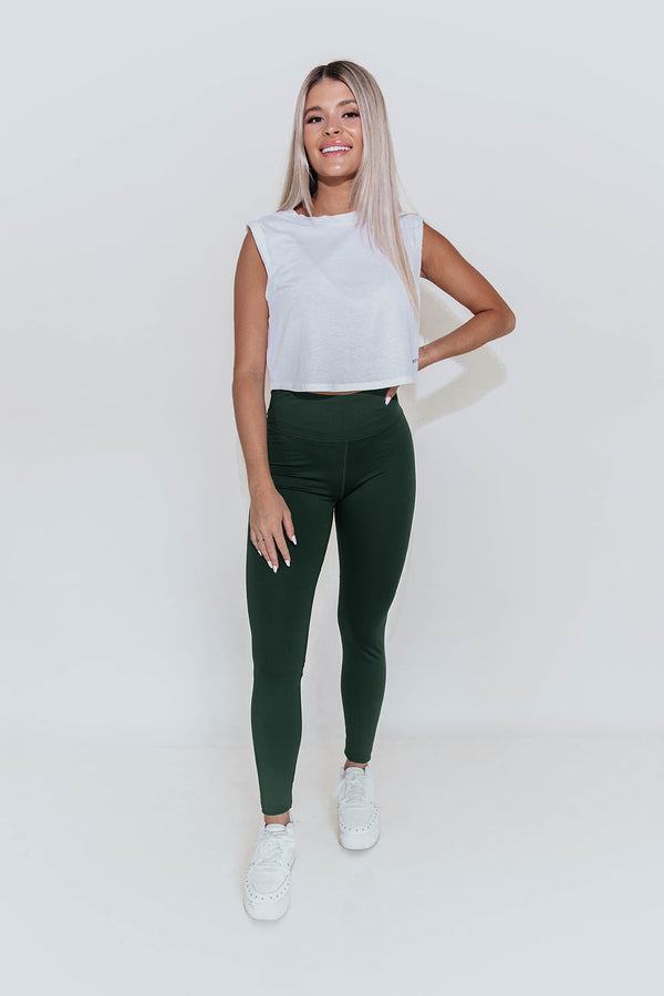 KIMBERLY DEEP GREEN ACTIVE LEGGINGS